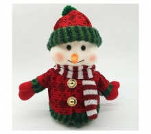 animated snowman red hat 22cm